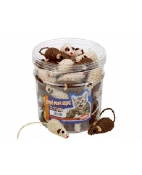 Играчка конопена мишка - NOBBY Германия - кафяво-бежова -  7 см